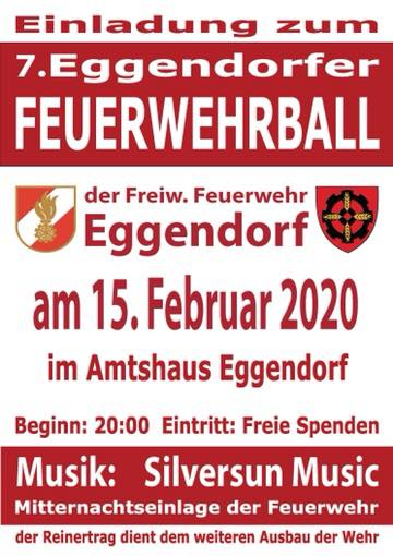 Plakat Ball FF Eggendorf 2020